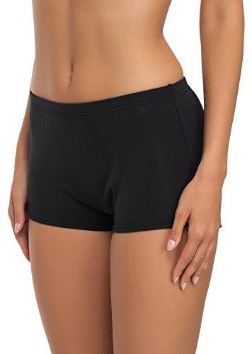 Merry Style Damen Badeshorts Bikinihose Modell Leila (Schwarz, 38)