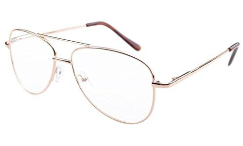 Eyekepper Flieger Design Metallrahmen Federscharniere Brillen Gold