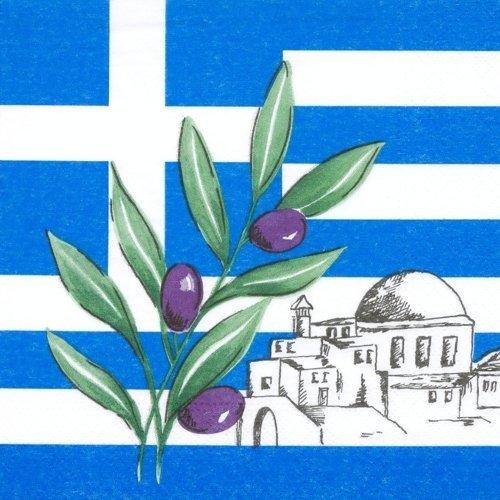 """Servietten """"GRIECHENLAND / GREECE"""" (33 x 33 cm / 3-lagig - 50 St�ck) XXL - PACK"""