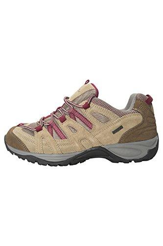 Mountain Warehouse Direction Damen Wasserdichte Schuhe Wandern Outdoor Trekking Sport aktiv Hellbraun 40 (EU)
