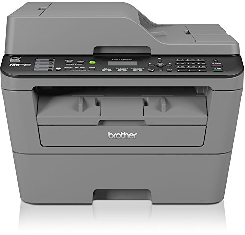 Brother MFC-L2700DW Monolaser-Multifunktionsger�t (Drucker, Kopierer, Scanner, Fax, 2400 x 600 dpi, WLAN, USB 2.0) grau
