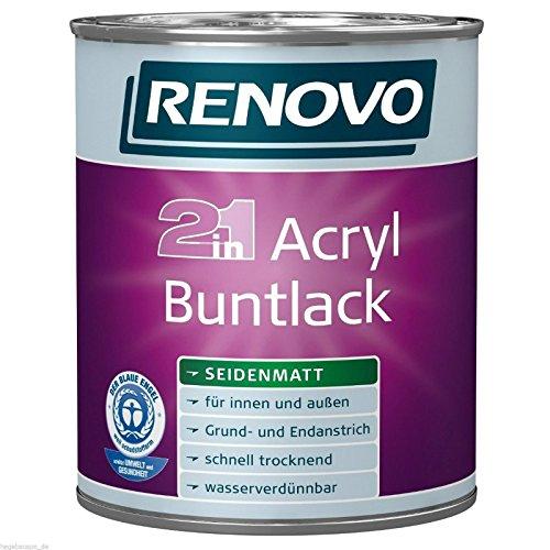 (9,99/L) Acryl-Buntlack wei� 2,5 Liter seidenmatt Acryllack