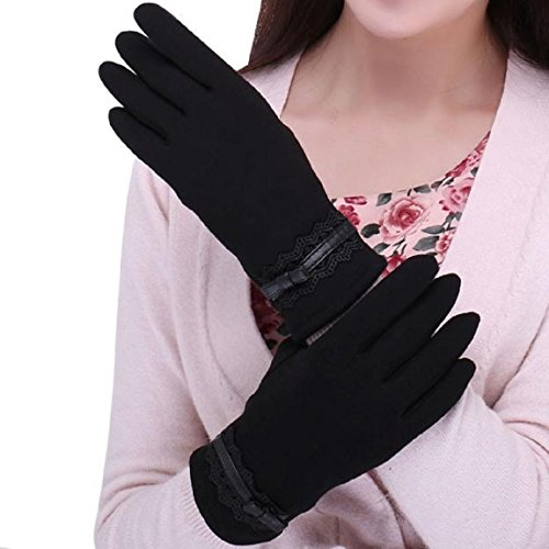 Malloom Mode Damen Touch Screen Winter Outdoor Sport Warme Handschuhe (Schwarz)