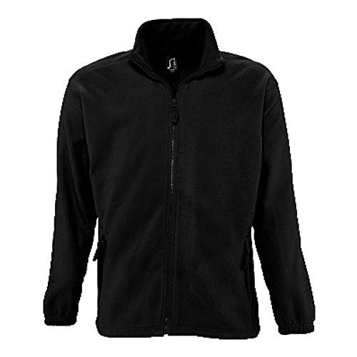 Sols Fleecejacke Fleece Jacke North bis Gr. 5XL ,Black, 4XL