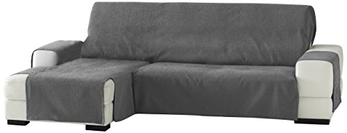 Zoco Sofa �berwurf Chaise Longue 240 cm. links Frontalsicht - Fb. 26-grau