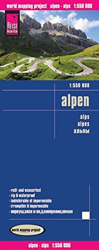Reise Know-How Landkarte Alpen (1:550.000): world mapping project
