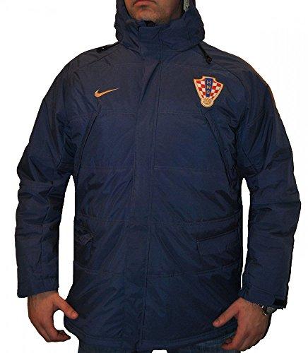 Nike Kroatien Winter Stadionjacke Dunkelblau 258984-412 Herren-Men's Hrvatska, Farbe:Blau;Gr��e Kleidung:Gr��e XL