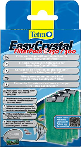 Tetra EasyCrystal Filter Pack C250/300 (Filtermaterial mit Aktiv-Kohle, Filterpads f�r EasyCrystal Innenfilter, geeignet f�r Aquarien von 30 Liter), 3 St�ck