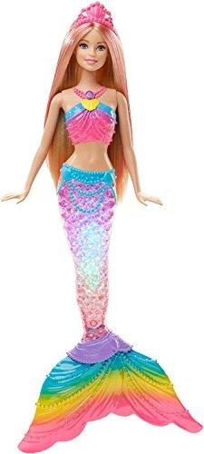 Mattel Barbie DHC40 - Modepuppen, Regenbogenlicht Meerjungfrau