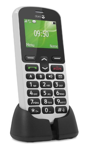 Doro PhoneEasy 508 GSM Mobiltelefon mit gro�em Farbdisplay (inkl. Ladeschale) wei�