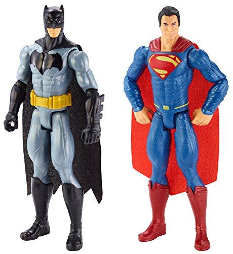 Mattel DLN32 - Fantasy, Batman vs Superman, Dawn of Justice 30cm Figuren 2-er Pack