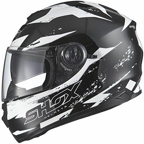 Shox Assault Trigger Motorrad Roller Helm L Schwarz/Wei�