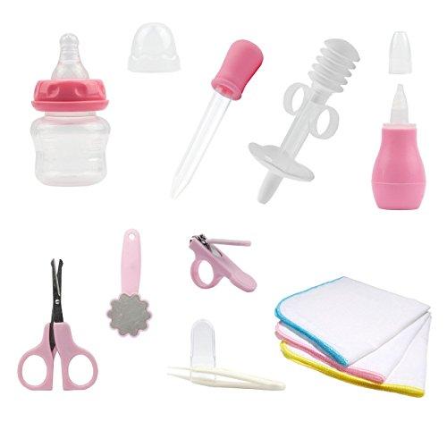 Lantelme 5662 Babypflegeset in rosa mit Baby Waschlappen