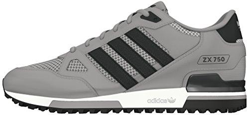 adidas Herren ZX 750 Gymnastikschuhe, Gris (Grpumg / Grpudg / Ftwbla), 44 EU