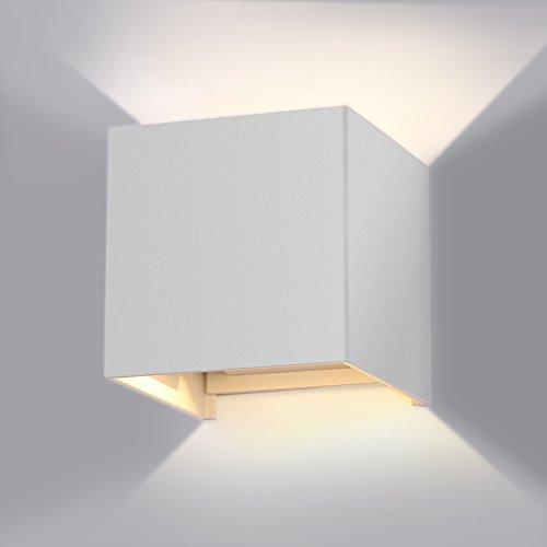 7W LED Wandleuchte Wandlampe mit einstellbar Abstrahlwinkel Design Wasserdichte IP 65 LED Wandbeleuchtung 2700K Warmwei� [Energieklasse A+]