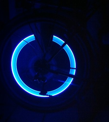 RBrothersTechnologie 2 St�ck LED Ventilkappen Radbeleuchtung Licht Felgenlicht Tuning Auto BLAU