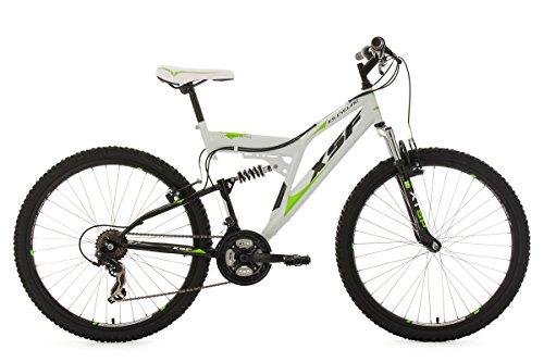 KS Cycling Fahrrad Mountainbike Fully XSF, wei�-gr�n, 26, 513M