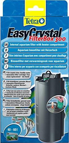 Tetra EasyCrystal Filter Box 300 Aquarium-Innenfilter (mit Heizerfach f�r kristallklares gesundes Wasser, einfache Pflege, keine nassen H�nde beim Filterwechsel, intensive mechanische biologische chemische Filterung), geeignet f�r Aquarien von 40 bis 60 Liter
