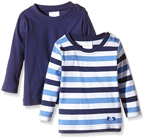 Twins Baby - Jungen Langarmshirt im 2er Pack, Gr. 62, Blau (Marine 194024)