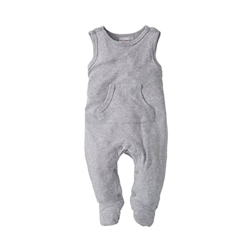 BORNINO Strampler Baby Strampelanzug, Gr��e 62/68, grau