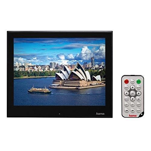 Hama Digitaler Bilderrahmen Slimline Premium Acryl (24,64 cm (9,7 Zoll), SD/SDHC/MMC-Kartenslot, USB 2.0, elektronischer Bilderrahmen mit Fernbedienung) schwarz