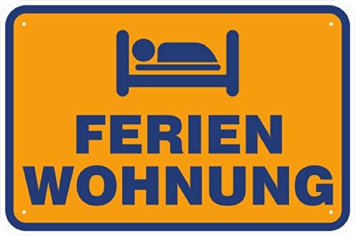 "Schild ""Ferienwohnung"" frei aus Aluminium-Verbundmaterial 3mm stark 20 x 30 cm"