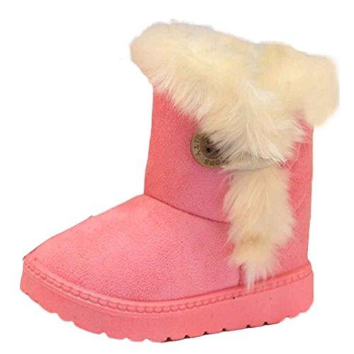 WOCACHI Mode Schneestiefel Winter Baby M�dchen Jungen Kinder warme Schuhe Krabbelschuhe Schneestiefel (21, Rosa)