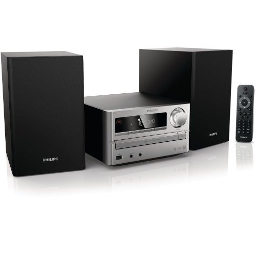 Philips MCM2000/12 Micro-Musiksystem/ Kompaktanlage (CD/MP3/WMA-Player, 20 Watt, USB) Silber