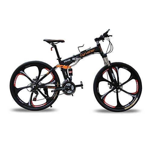 Mountainbikes Klappr�der doppelte Federung Mann Fahrr�der matt-schwarz Shimano M310 ALTUS 24 Geschwindigkeiten 17 Zoll * 26 Zoll Aluminium-Rahmen-Fahrrad Scheibenbremsen Cyrusher aktualisiert neu FR100