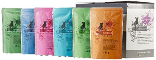 Catz finefood Katzenfutter Multipack Pouches 2 (No.15-No.25) 12 x 85g, 1er Pack (1 x 1.02 kg)