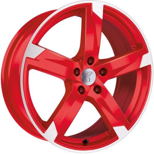1 x Rondell Z Design 01RZ in 7,5 x 17 ET 35 LZ/LK 5 x 112 Farbe Racing Rot, poliert f�r Skoda Octavia (II) Scout Typ 1Z