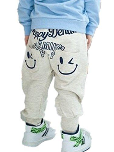 Kinder Jungen M�dchen Einzigartige Smiling Kleidung Harem-Hosen-Hose-Karikatur (100 (1-2 Jahre), A)