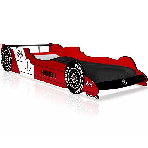 Autobett F1 Formel 1 Kinderbett Bett Schlafzimmer Kinderm�bel Rennbett Spielbett Rot