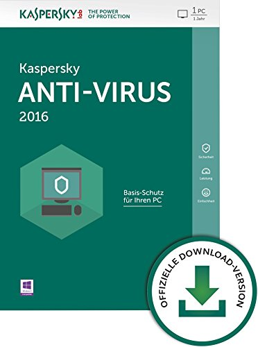 Kaspersky Anti-Virus 2016 - 1 PC / 1 Jahr [PC Download]