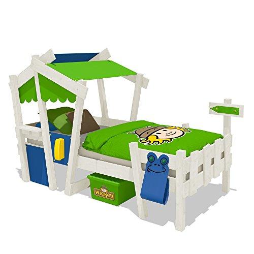 WICKEY CrAzY Candy Kinderbett Jugendbett 90x200cm (BLAU / APFELGR�N mit Lattenboden + wei�e Farbe)