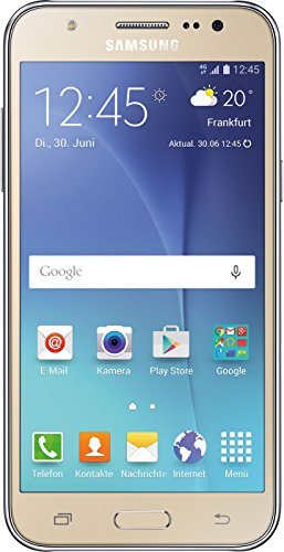 Samsung Galaxy J5 Smartphone (5 Zoll (12,7 cm) Touch-Display, 8 GB Speicher, Android 5.1) gold