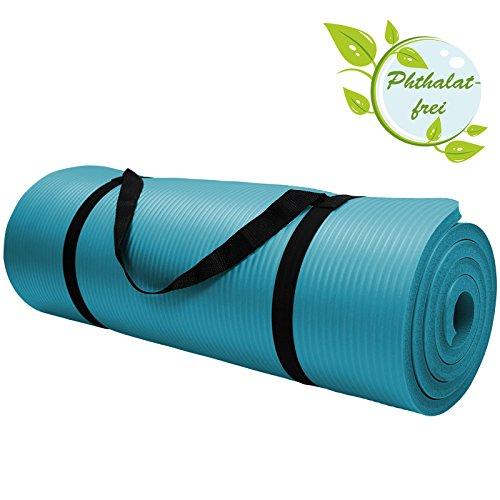 Yoga-Matte in vielen verschiedenen Gr��en und Farben rutschfest phthalatfrei f�r Gymnastik Turnen Pilates extra dick, Farbe:Fresh Turquoise;Ma�e:190 x 100 x 1.5 cm