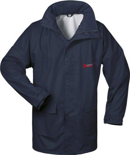 NORWAY PU Regen-Jacke mit Kapuze - marine - Gr��e: L