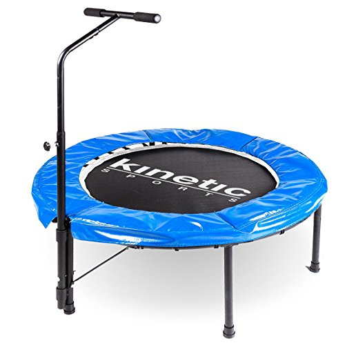 Kinetic Sports Indoor Fitness Trampolin Home Trampolin, Durchmesser 100 cm, Haltegriff H�henverstellbar 83-123 cm