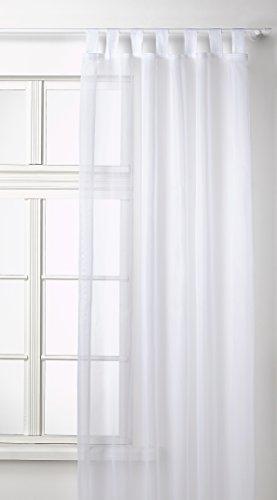 Transparente einfarbige Gardine aus Voile, viele attraktive Farben, 245x140, Wei�, 61000