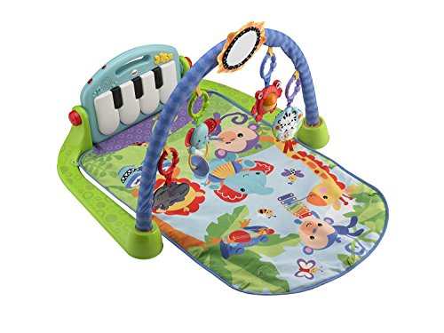Mattel BMH49 - Fisher-Price Rainforest Piano-Gym mit Musik