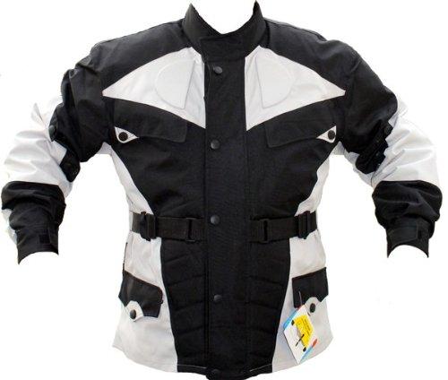 German-Wear Motorradjacke, Schwarz/Hellgrau, 3XL