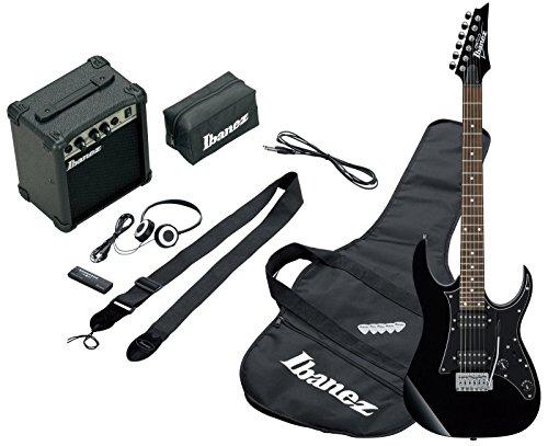 Ibanez IJRG200-BK Jumpstart Set E-Gitarre (Amp, Gigbag, Gurt, Kabel, Plektren, Zubeh�rtasche) schwarz