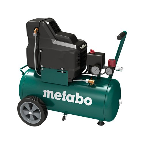 Metabo Kompressor f�r Druckluft-Werkzeug Basic 250-24 W OF / 8 bar Kompressor f�r mobile Eins�tze / �llos mit Manometer