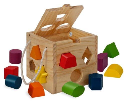 Eichhorn 100002092 - Steckw�rfel aus Holz, 13-teilig, Holz natur/bunt - 14,5x14,5x14,5 cm - Spielw�rfel  - Motorik