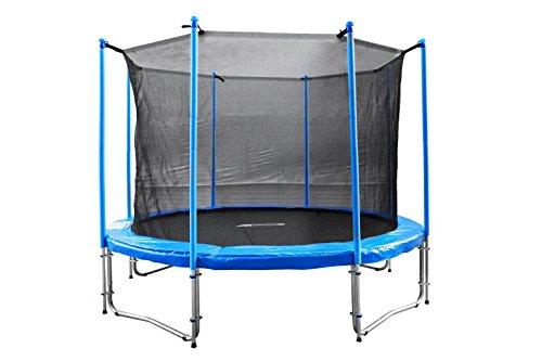 FA Sports Gartentrampolin mit Sicherheitsnetz Flyjump Monster, blau, 305 cm, 1220
