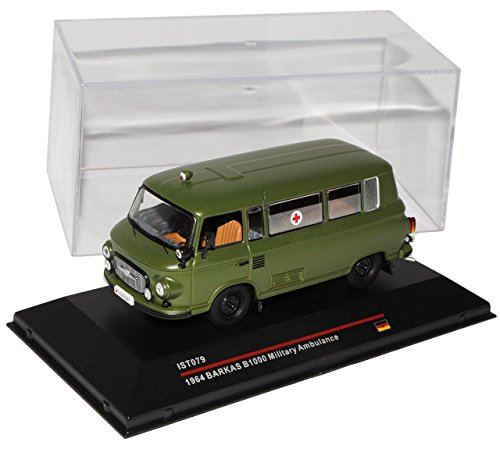 Barkas B1000 Ambulance Milit�r Arme NVA DDR Gr�n 1964 IST079 1/43 Ist Ixo Modell Auto