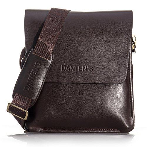 Daditong M�nner Echtes Leder Handtasche Schultertasche Messenger Bag Aktentasche iPad Mini Vertical
