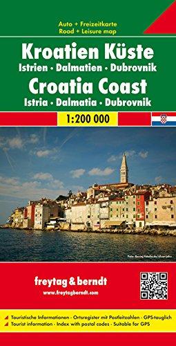 Freytag Berndt Autokarten, Kroatien K�ste - Istrien - Dalmatien - Dubrovnik - Ma�stab 1:200.000 (freytag & berndt Auto + Freizeitkarten)
