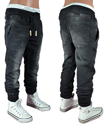 3862 DENIMLAB Jogg-Jeans Hose Junge Kinder schwarz 122-170 (16 (ca.164-170))